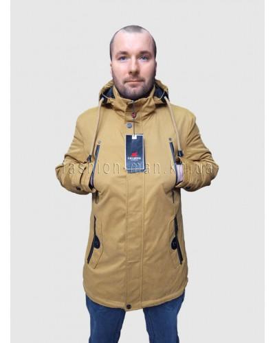 Демисезонная куртка D-52 Горчичный
