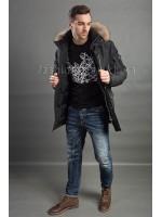 Мужская куртка с меховым капюшоном HP-071