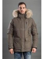 Мужская куртка с меховым капюшоном HD-071