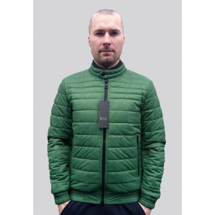 Демисезонная мужская куртка в зеленом цвете Т-132